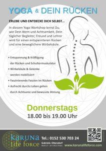 Yoga für den Rücken @ Karuna Yoga Raum