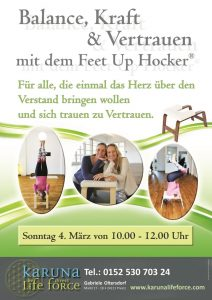 Yoga mit dem Feet Up Hocker