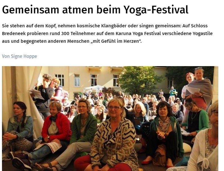 Karuna Yoga Festival – ein voller Erfolg