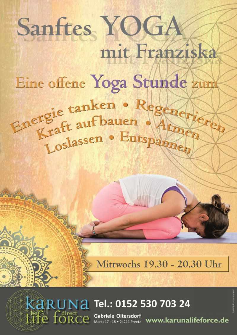 Sanftes Yoga mit Franziska