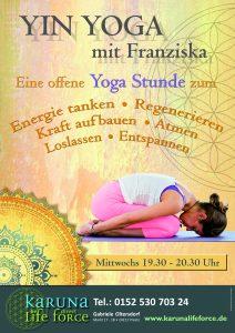 Yin Yoga mit Franziska @ Karuna Yoga Raum