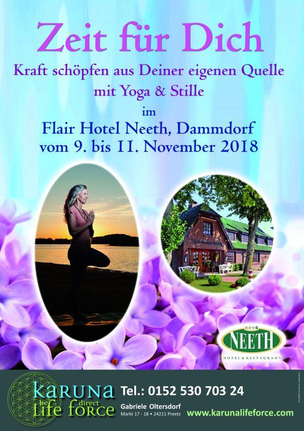 """""""Zeit für Dich"""" – Karuna Yoga Retreat im November"""