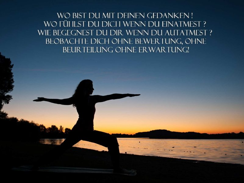 Stressbewältigung  durch Achtsamkeit & Yoga