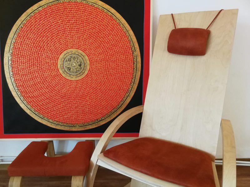 Entspannung auf dem Klang Stuhl