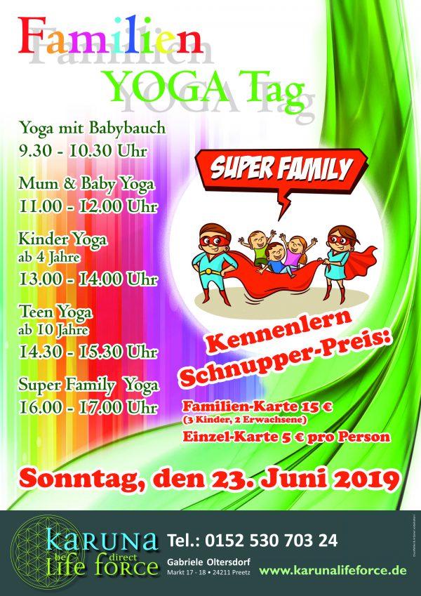 Super Family Yoga Tag diesen Sonntag