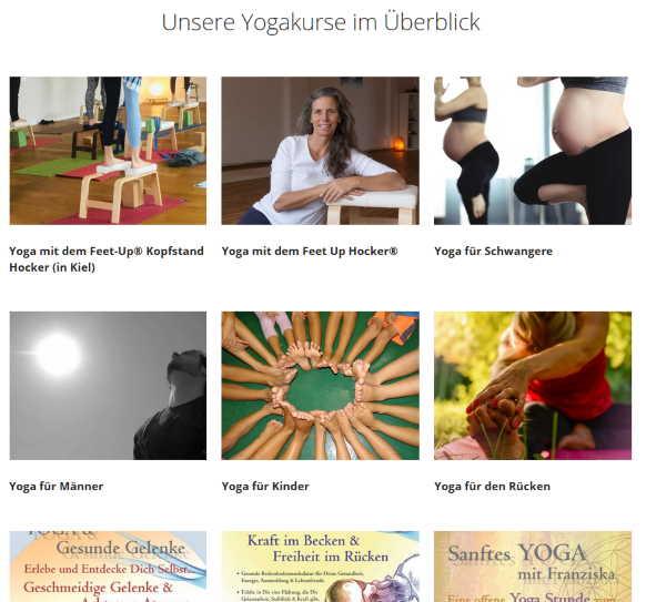 Unsere Yogakurse in der Übersicht