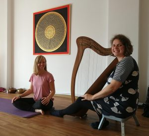 Yin Yoga mit Harfe