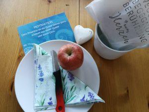 Fasten brechen , Apfel Meditation